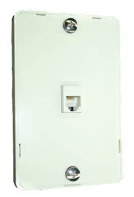 NEW Telephone Technical Services Pty Ltd Wall Mount Plate RJ45 IDC and Cord