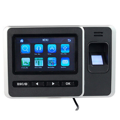 HD LCD Touch Screen Biometric Password/Fingerprint Attendance Machine Time Clock