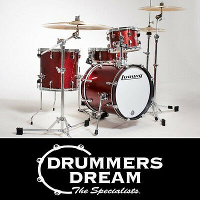 Brand New Ludwig Breakbeat By Questlove 4 Piece Drum Shell Kit Wine Red Finish