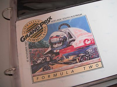 Australian formula one first day covers and postcards