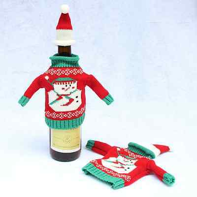 1Set Wine Bottle Covers Bag Christmas Decoration Home Party Decors Gifts