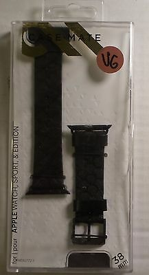Case-Mate Scaled Replacement Band for Apple Watch 38mm - CM032787 - Black/Black