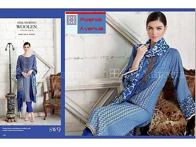 GUL AHMED 100% Original Winter Collection 2015 Unstitched Suit SW-9