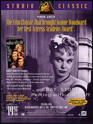 THE THREE FACES OF EVE__Original 1993 Trade AD / movie promo__JOANNE WOODWARD
