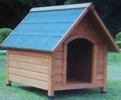 Large Wooden Dog Kennel Outdoor Shelter Weather Proof Winter House 101x84x86cm