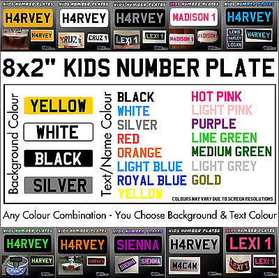 8x2  Kids Plastic Number Plate - Ride On Toy Car Childrens Childs with Name/  sc 1 st  PicClick UK & 8X2