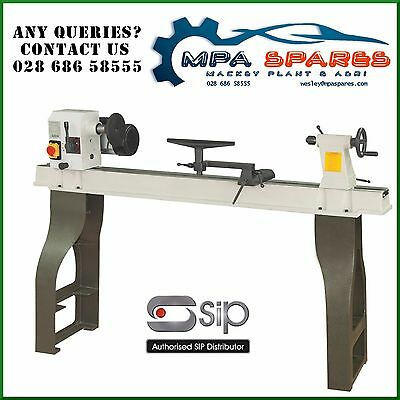 SIP 01940 ROTATING PROFESSIONAL WOOD TURNING LATHE 1100mm WITH CAST IRON LEGS