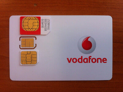 Vodafone UK EUROPE 3G SIM Card + Data. NEW. Activated. Great Roaming Rates