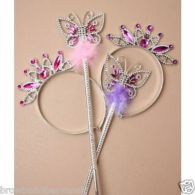 Butterfly WAND AND TIARA Set.  BNWT Pink/Purple