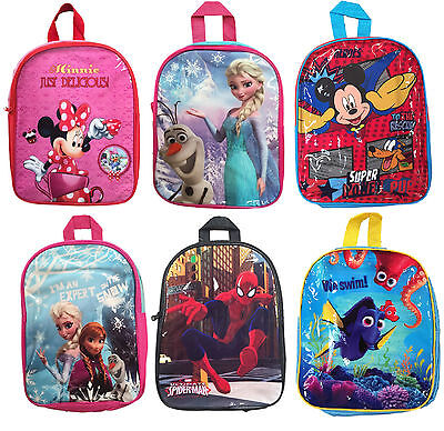 Character School Bags Junior Back Pack Official Boys Girls Rucksack Bag Bnwt