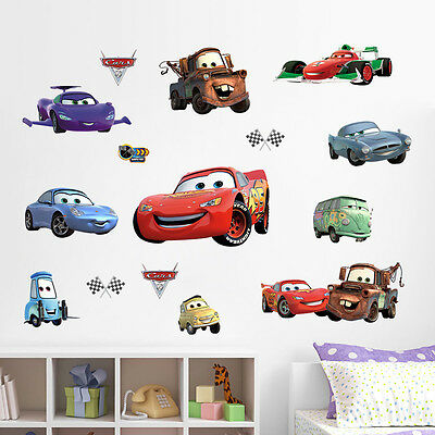 cars auto wandtattoo wandsticker 3d xxl autos kinderzimmer deko disney kinder 3 eur 15 95. Black Bedroom Furniture Sets. Home Design Ideas