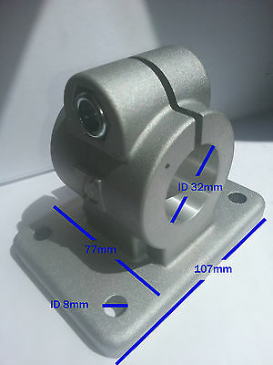 Two 32mm ID Clamps With Flange Plate