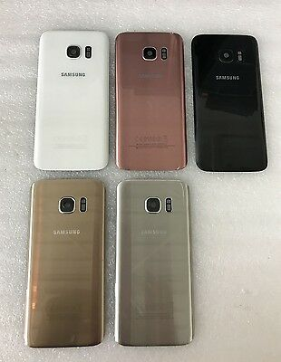 Genuine Samsung Galaxy S7 G930F Back Glass Battery Cover Grade A/B All Colours
