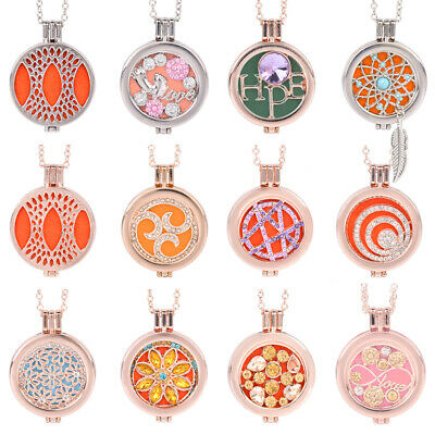 Aromatherapy Essential Oil Diffuser Perfume Fragrance Locket Pendant Necklace