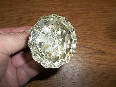 Antique Glass Door Knob Metal Shank