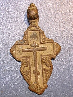 Ancient BRONZE  Cross Middle Ages original