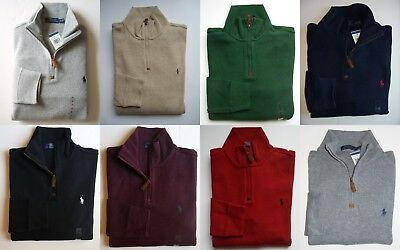 Men Polo Ralph Lauren Half Zip Sweater All Sizes Assorted Colors NEW