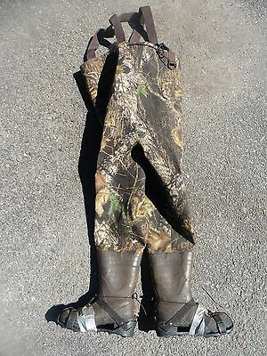 Pro Line Hunting Chest Waders Thinsulate 400G Overalls boots sz 9 Hodgman spikes