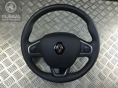 12-16 Renault Clio Mk4 Leather Multi Function Steering Wheel With Airbag