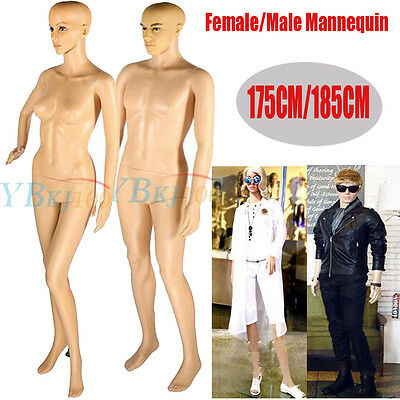 Natural Copmplexion Full Body Mannequin Female Male Dummy Window Clothes Display
