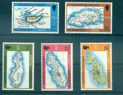 Cartes - Maps Alderney 1989