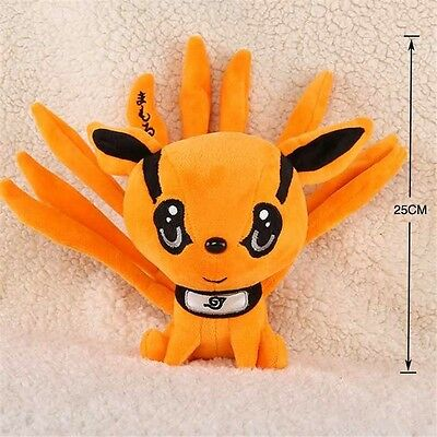 "Naruto Uzumaki Kyuubi Kurama Nine-Tales Fox Demon 10"" Plush Toy Stuffed Doll New"