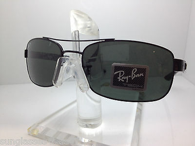306361d9feb RAY BAN RB8316 002 N5 size 62-18-135 3P Black Polarized Sunglasses ...