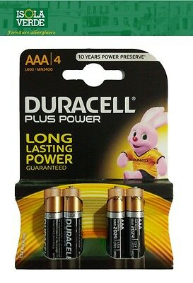 Duracell Originale Batterie Plus Power Pile Alcaline Mini Stilo Aaa Batteria A