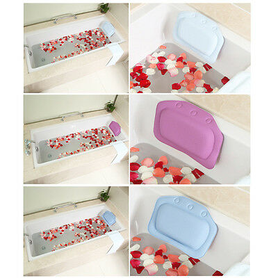 Hot Comforeable Relaxing Cushioned Bath Spa Pillow Head Neck Rest Bathtub Pillow