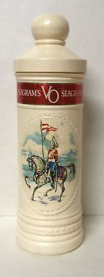 Vintage Seagram's VO Distillery Whiskey Fifth Bottle Holder Liquor Container