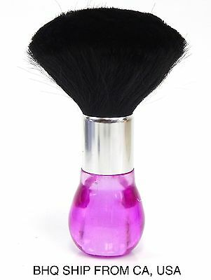 Neck Duster Brush for Salon Stylist Barber Hair Cutting Make Up, Body - Pink