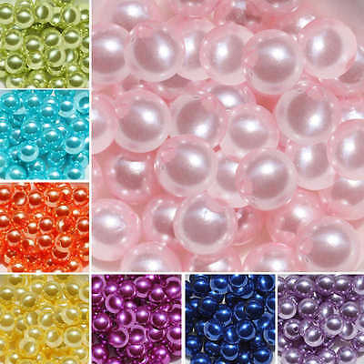 Pearl Beads Imitation Acrylic Round Faux Pearl Loose Spacer Craft 4mm/6mm/8mm