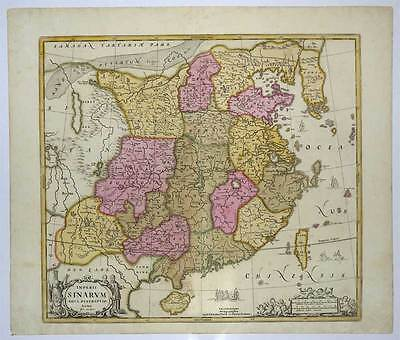 China - Korea - Asien - Asia - Kupfer-Karte-Map Jan van Loon-Schenk & Valk 1690