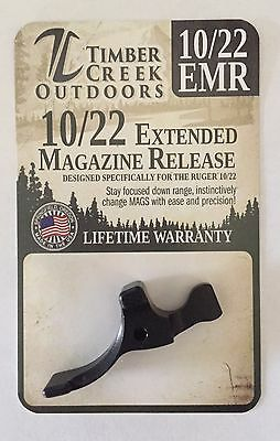 Timber Creek - Ruger 10/22 Extended Magazine Release Lever - Anodized Black
