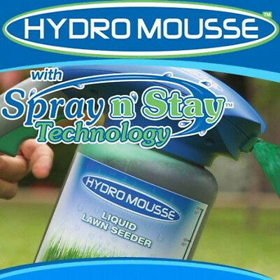 Hydro Mousse - Liquid Lawn Fescue Kit, Covers Up To 100 Square Feet. NEW