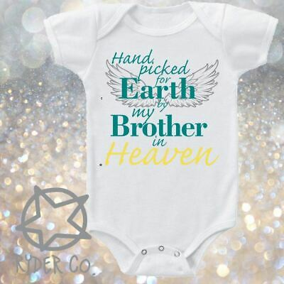 HAND PICKED FOR EARTH FROM HEAVEN ROMPER or SINGLET CUSTOM PRINT