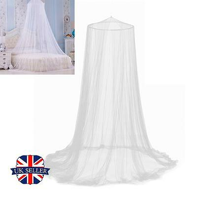 Childrens Girls Bed Canopy Mosquito Fly Netting Net Curtain Dome Outdoor White