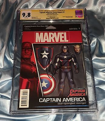 Cgc Ss 9.8~Captain America Steve Rogers #1~Signed By Chris Evans~Hail Hydra~