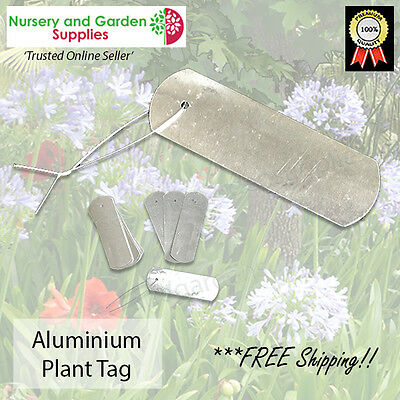 Plant labels - Aluminium Pack of 100 -permanent Tree tag with hole and wire tie