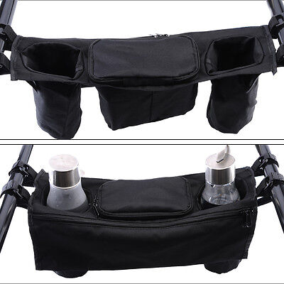 BABY STROLLER ORGANIZER CUP BAGS CARRIAGE PRAM BUGGY CART BOTTLE HOLDER New