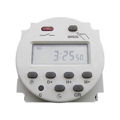 CN101 DC 12V 16A Digital LCD Power Programmable Timer Time Relay Switch Tool New