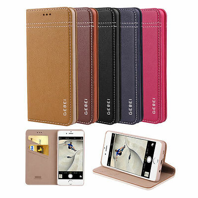 Genuine Real Leather Luxury Magnetic Flip Cover Wallet Case For iPhone 7 7 Plus