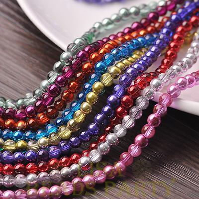 New 72pcs 8mm Round Glass Loose Spacer Beads Jewelry Making Mixed Color