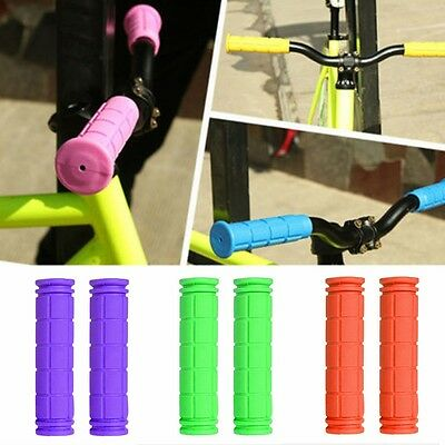 Soft Rubber Bike Handle Bar End Grip For BMX MTB Road Mountain Bicycle Scooter
