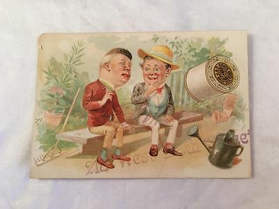 Victorian Trade Card J & P Coats Best Six Cord Thread Hand Sewing Machine