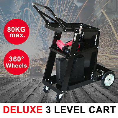 Premium Welding Cart Trolley MIG TIG ARC MMA Welder Plasma Cutter Bench Storage