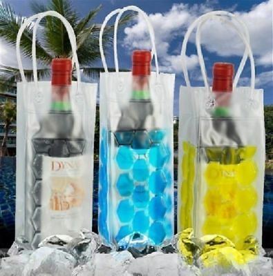 3x Assorterd Wine Champagne Bottle Ice Gift Bag Portable Carrier Cooler Reusable