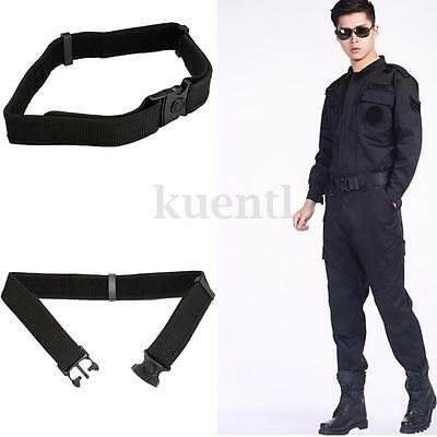 Quick Release Buckle Nylon Adjustable Police Utility Security Guard Duty Belt