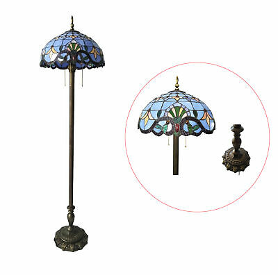 Fixture Displays Tiffany Style Elegant Floor Lamp 20-Inch Shade 16059