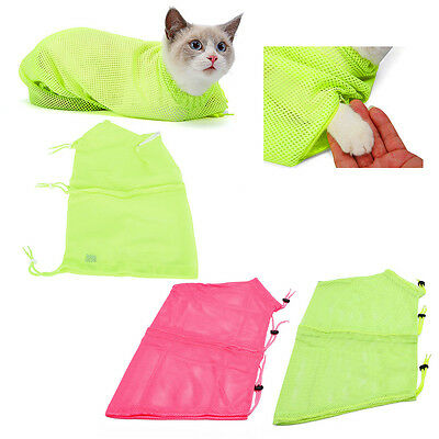 Pet Dog Cat Puppy Mesh Grooming Restraint Bag For Bath Nails Cutting Cleaning